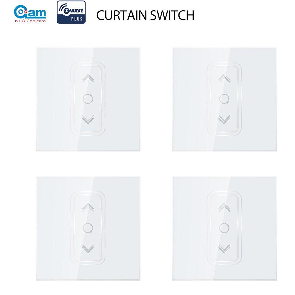 NEO Coolcam 4 unids/lote Smart Home Z Wave Plus interruptor de cortina inteligente para cortina eléctrica motorizada persiana enrollable ciega