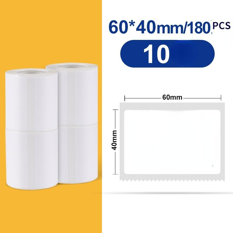 NIIMBOT B3S Self-adhesive Label Paper Printing Paper Label Paper Clothing Tag Label Printer Sticker Barcode Paper 60*40mm.