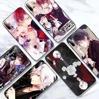 anime diabolik lovers phone case for redmi 5 plus 6a 7a 8a 9a note 7 8t 9s black soft pro max nax fundas cover
