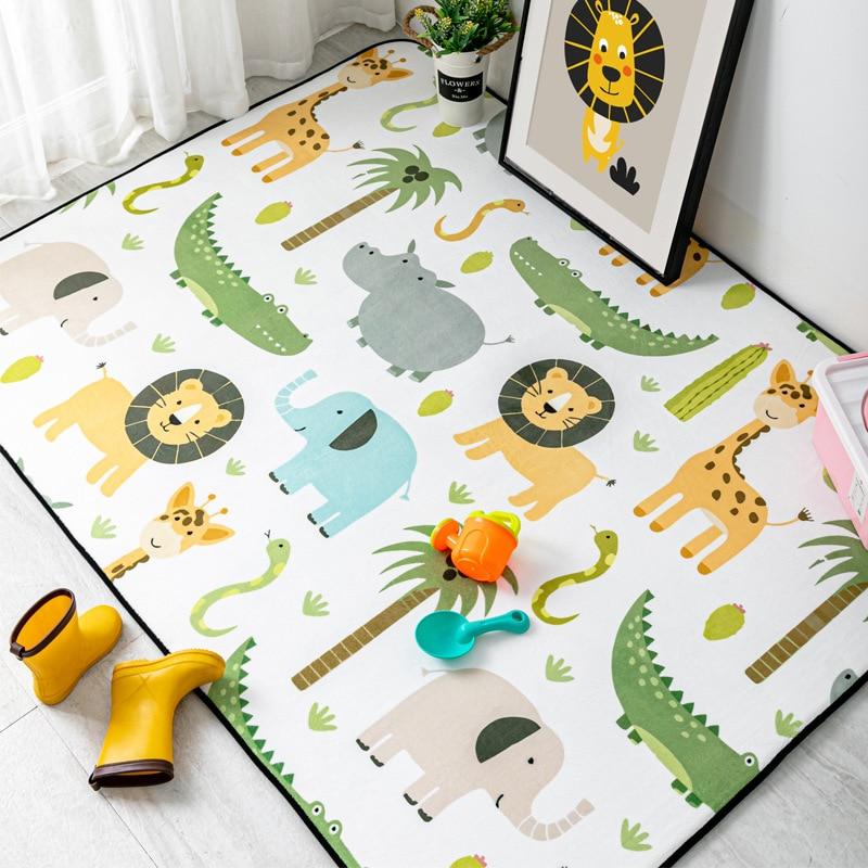 لطيف الكرتون الحيوانات السجاد غرفة الاطفال تلعب خيمة منطقة السجاد الأطفال ديكور غرفة نوم السجاد غرفة المعيشة عدم الانزلاق الكلمة حصيرة