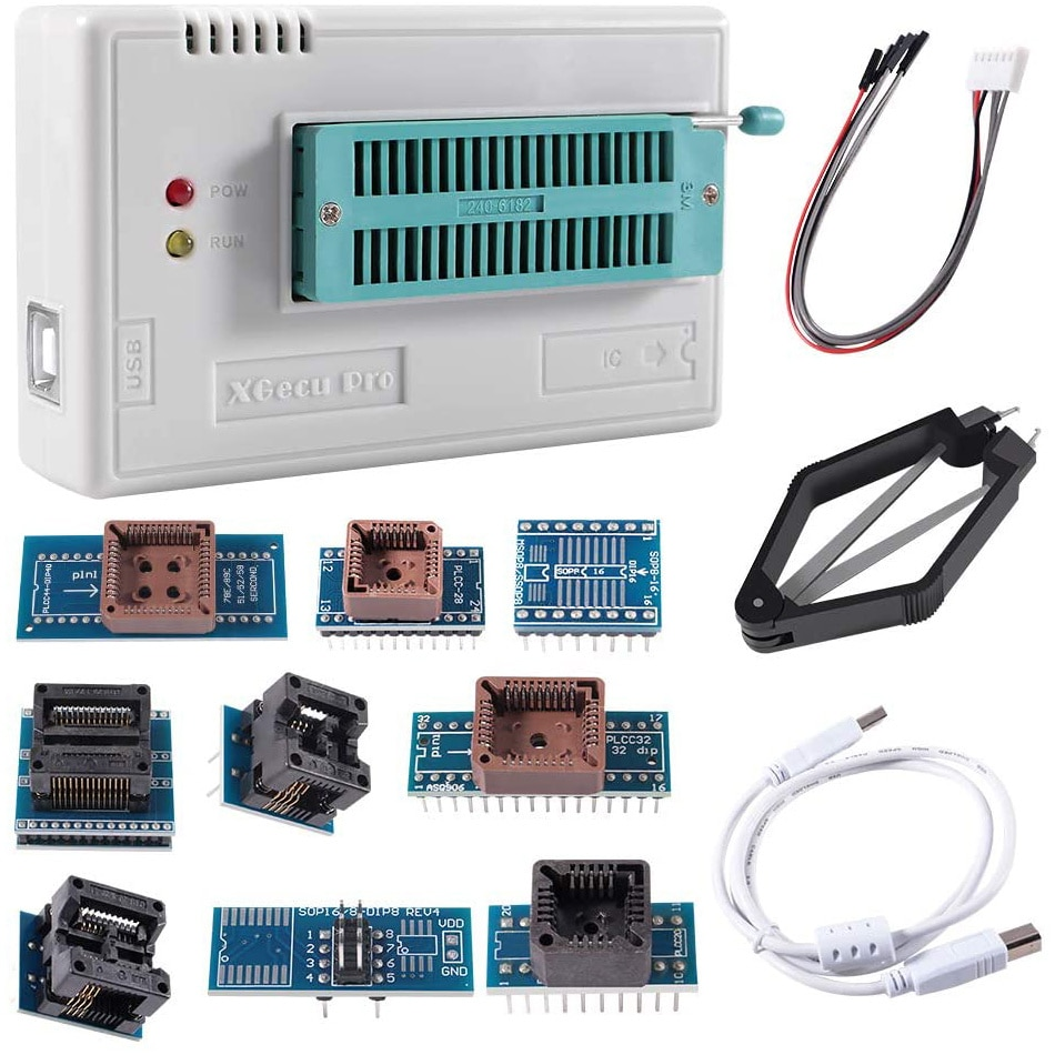 USB Universal Programmer TL866II Plus Programmer Flash Programmer for EEPROM Flash 8051 AVR MCU GAL PIC with 10 Adapter
