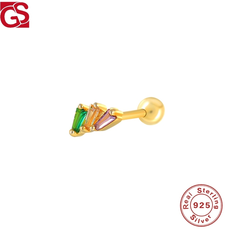 GS boucles doreilles femme 925 argent Sterling Pendientes irrégulier Turquoise Piercing bijoux fins cadeau soutien livraison directe revendeur