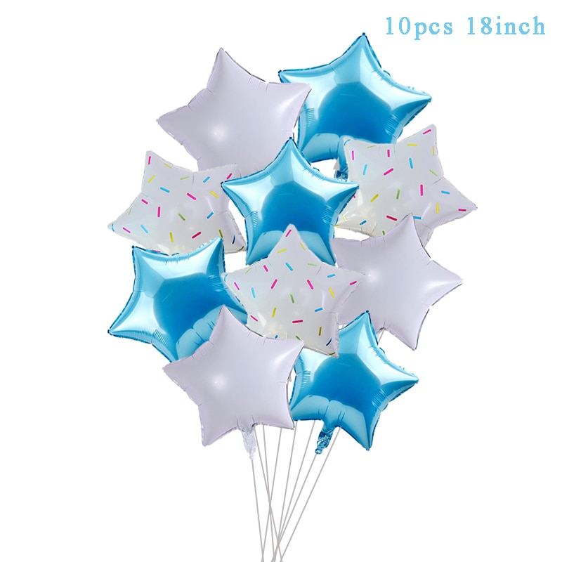 Синие латексные воздушные шары на первый день рождения мальчика-4