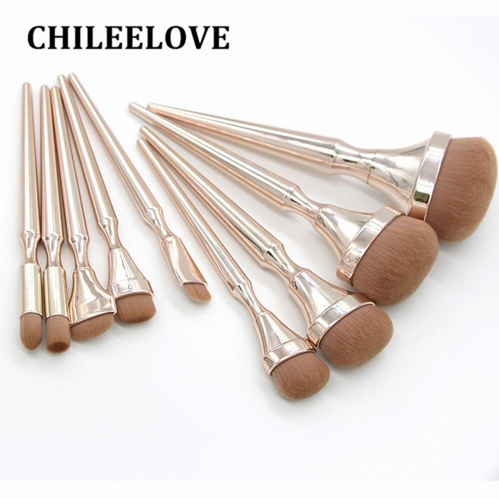 Juego de brochas de maquillaje CHILEELOVE 9 unids/set herramienta de maquillaje