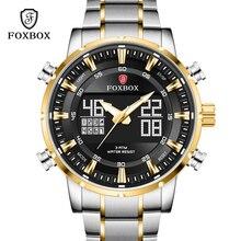 Relogio Masculino FOXBOX Top Brand Men Watches Fashion Luxury Quartz Watch Mens Military Chronograph