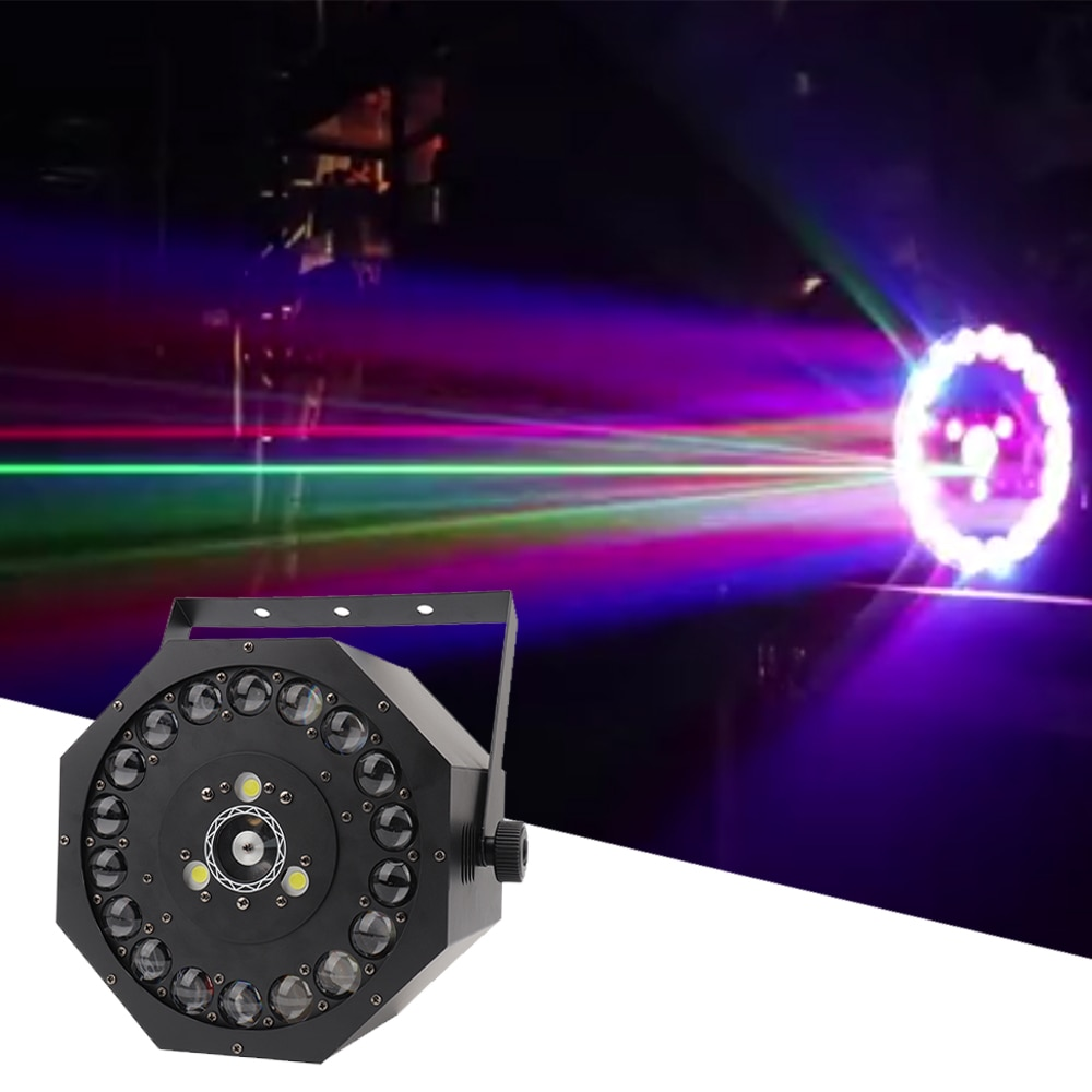 18x3W RGB 3IN1 LED Strobe Laser Beam Effect 3in1 Projector Light Stage DJ Disco led Spot Light Wedding Party Bar Gobo Lights