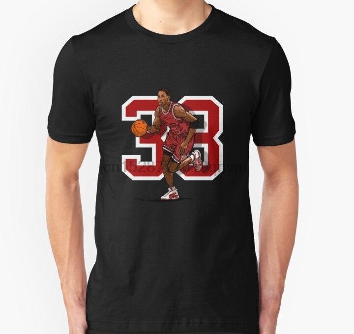 Men tshirt Pip 33 Retro Chicago Basketball Unisex T Shirt Printed T-Shirt tees top