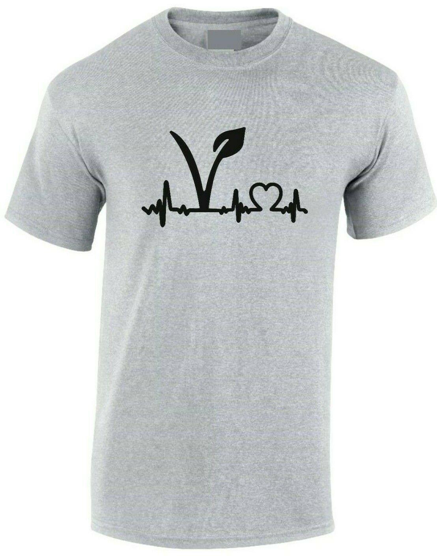 Vegan pulso t camisa batimento cardíaco fitness paz mindfulness adulto crianças sm xxxl