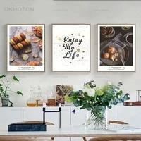 Toile de peinture nordique  mode alimentaire  paysage  image murale  lettre dart  decor de maison  salon  salle a manger