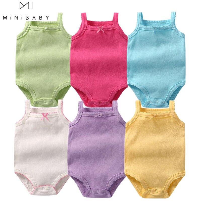 Ropa de verano aliexpress para bebé, mono Infantil de 9 colores, disfraz para niña de 0 a 3 años, ropa para recién nacido, Body Infantil