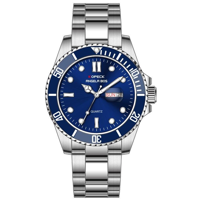 Mens Watches Top Brand Luxury Waterproof calendar Quartz Watch Man steel Sport Wrist Watch reloj hombre