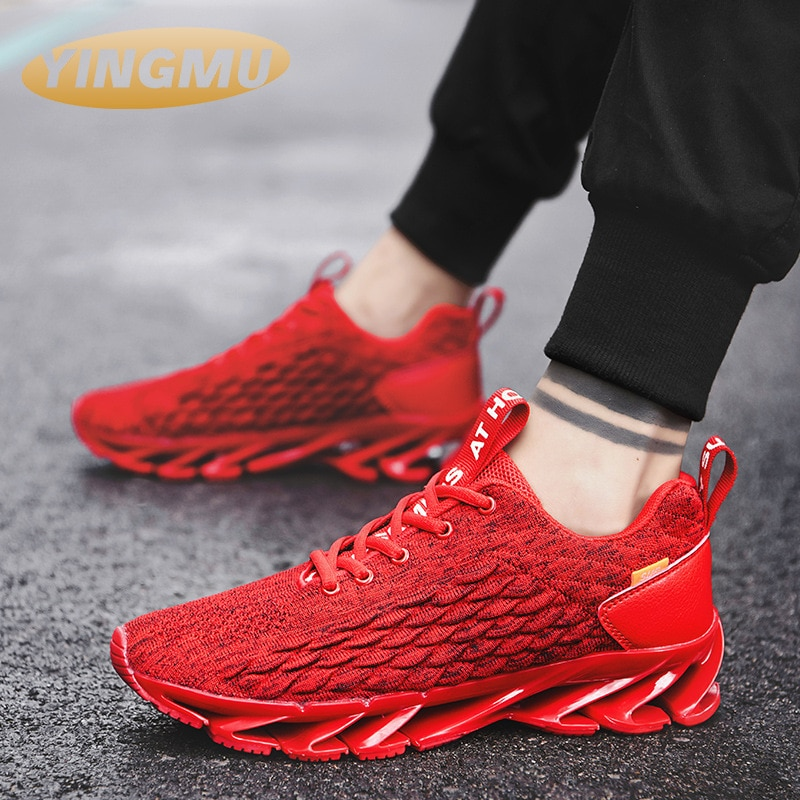 Men's shoes 2021 new large flying shoes fashion shoes fish scale mesh sports running shoes Men's sneakers male shoes fashion