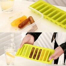 10 siatka prostokątna silikonowa tacka do lodu formy kreatywny budyń tort czekoladowy lody wielokrotnego użytku formy dziecko suplement diety Box