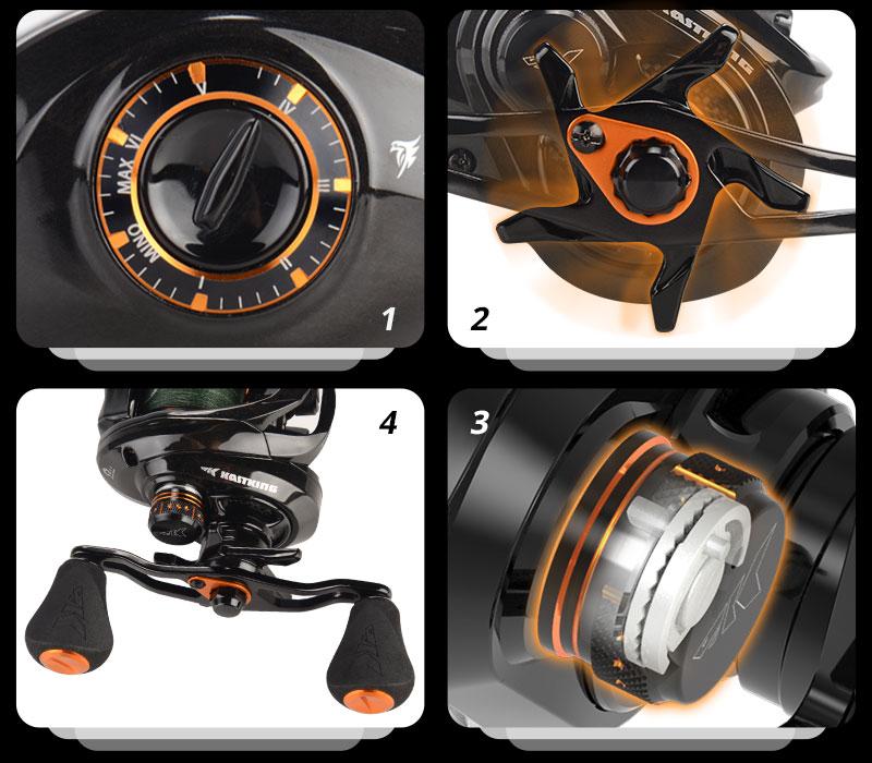Fishing Reel  4.5KG 7 Ball Bearings 7.2:1 Gear Ratio Carbon Fishing Coil enlarge