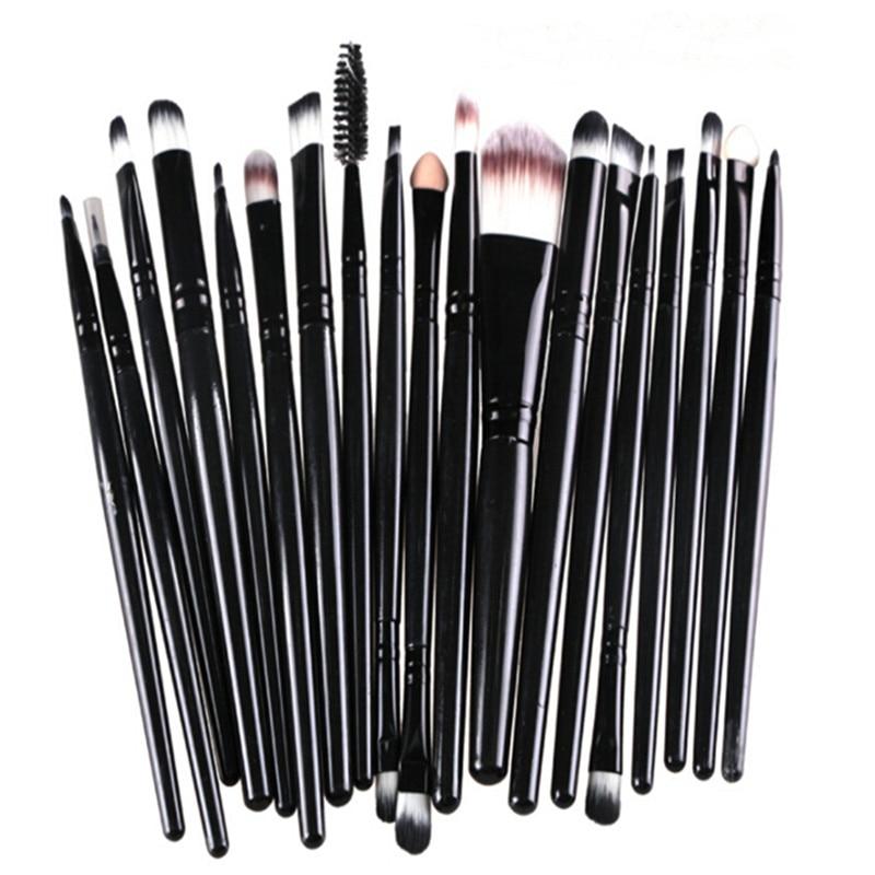 Maquillaje pinceles/brochas profesional 20 unids/set cepillo Set de polvo de base de sombra de ojos de labios cejas Pincel, Maquiagem