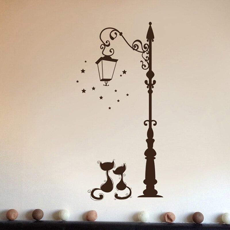 Bonitas pegatinas de moda para gato, divertidas pegatinas de gato Decoración Para sala de estar, decoración de pared de TV para niños, dormitorio infantil, vinilo para decoración del hogar BRC08