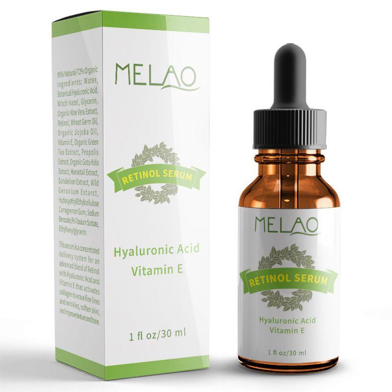 Melao 2.5% aumentou o soro do retinol com ácido hialurônico & vitamina e, orgânico anti-enrugamento 30ml