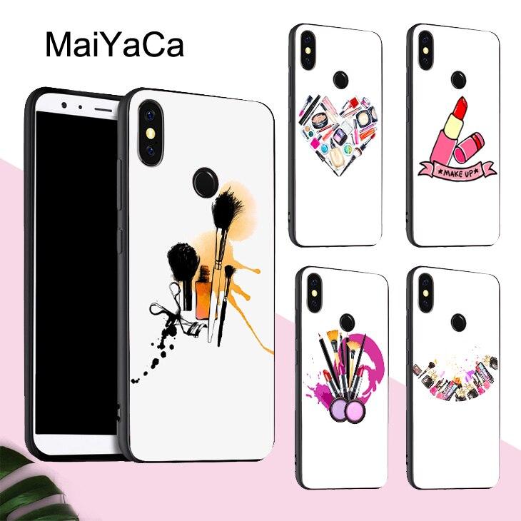 MaiYaCa макияж коллекция тушь для ресниц губная помада чехол для Xiaomi Redmi Note 8 9 Pro K30 7 8T 9S 7A 8A Mi 10 9 Lite 9T A3 Max3 Mix3