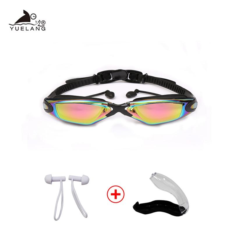 Очки для плавания профессиональные прочные силиконовые очки для плавания Анти-туман Анти-УФ водонепроницаемые очки для плавания взрослых ...