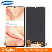 amoled display replacement 6 4 for oppo find x2 lite cph2005 lcd with frame touch screen digitizer assembly