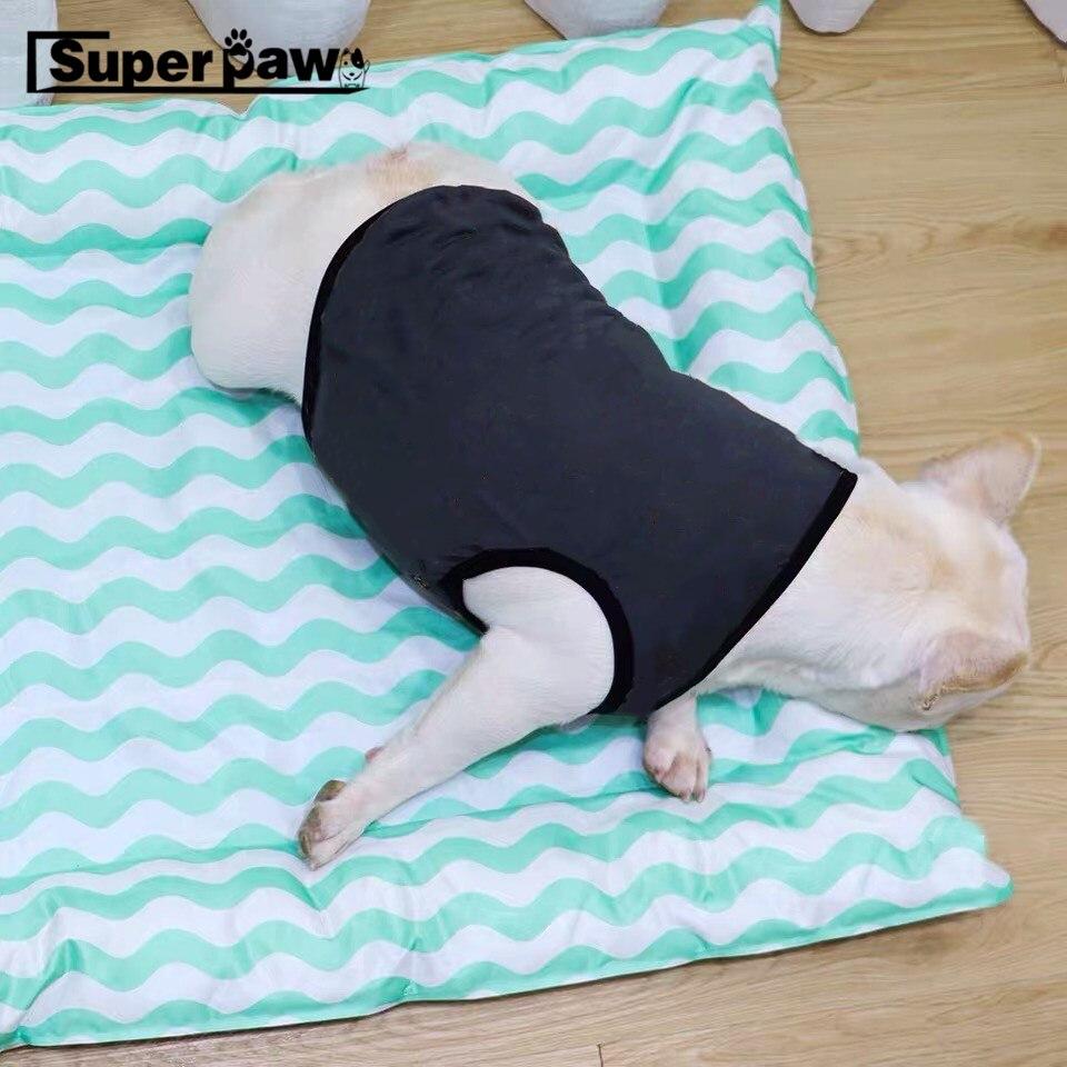 Moderno Chaleco de verano para perro mascota, camiseta para perros pequeños, medianos, ropa para Bulldog Francés, ropa para Pomerania Pug, envío directo LAC28