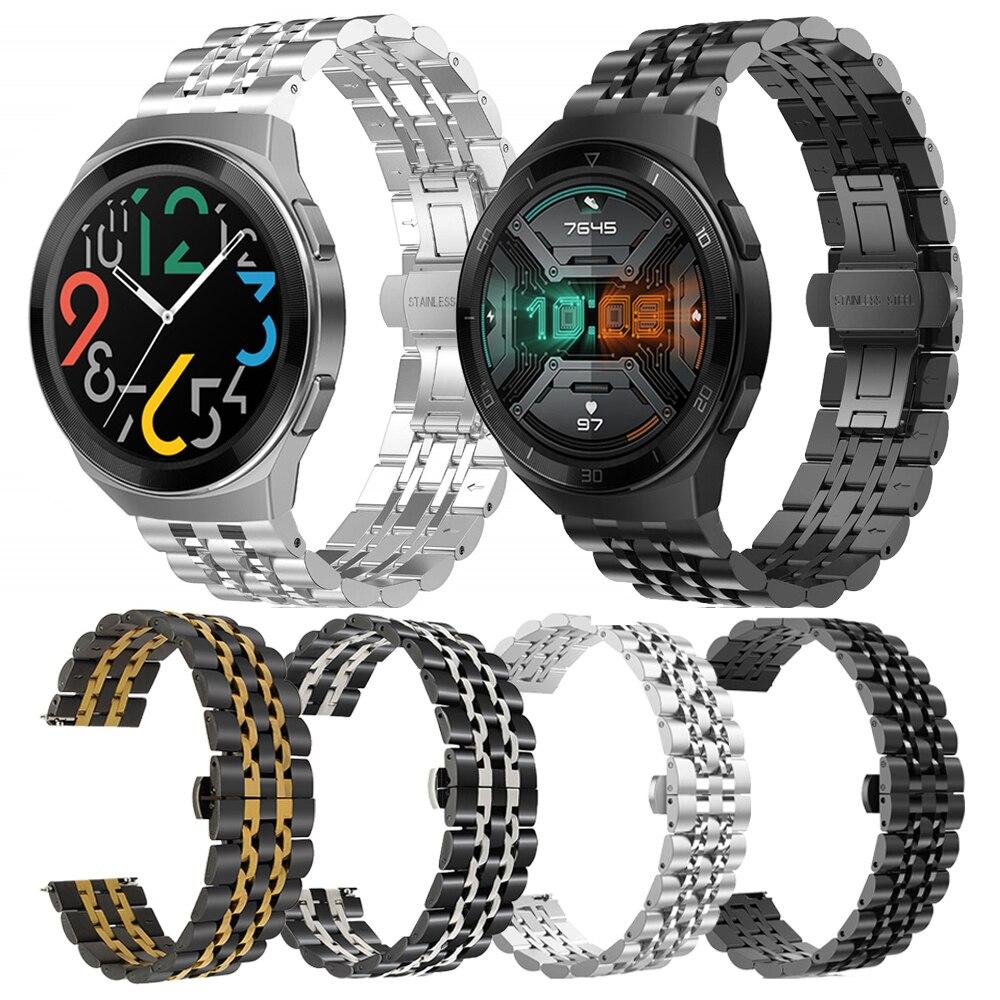 Correa de acero inoxidable de Metal para HUAWEI WATCH GT 2e 46mm pulsera de banda para HUAWEI 2e Smartwatch accesorios de Cinturón Correa