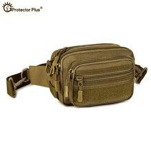 Camuflagem à prova dwaterproof água molle bolsa dos homens fanny pacote militar tático escalada exército anexado pacotes de viagem caminhadas sacos