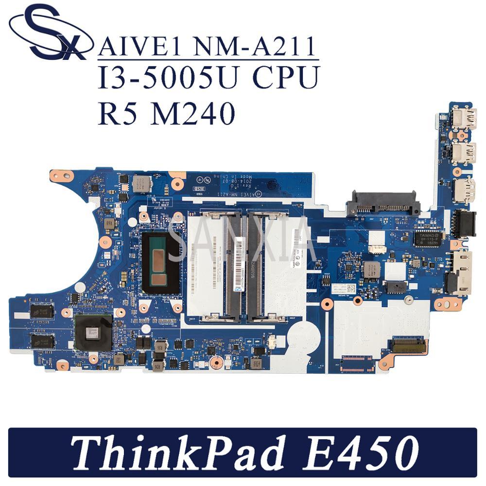 Kefu NM-A211 placa-mãe do portátil para lenovo thinkpad e450 original mainboard I3-5005U R5-M240