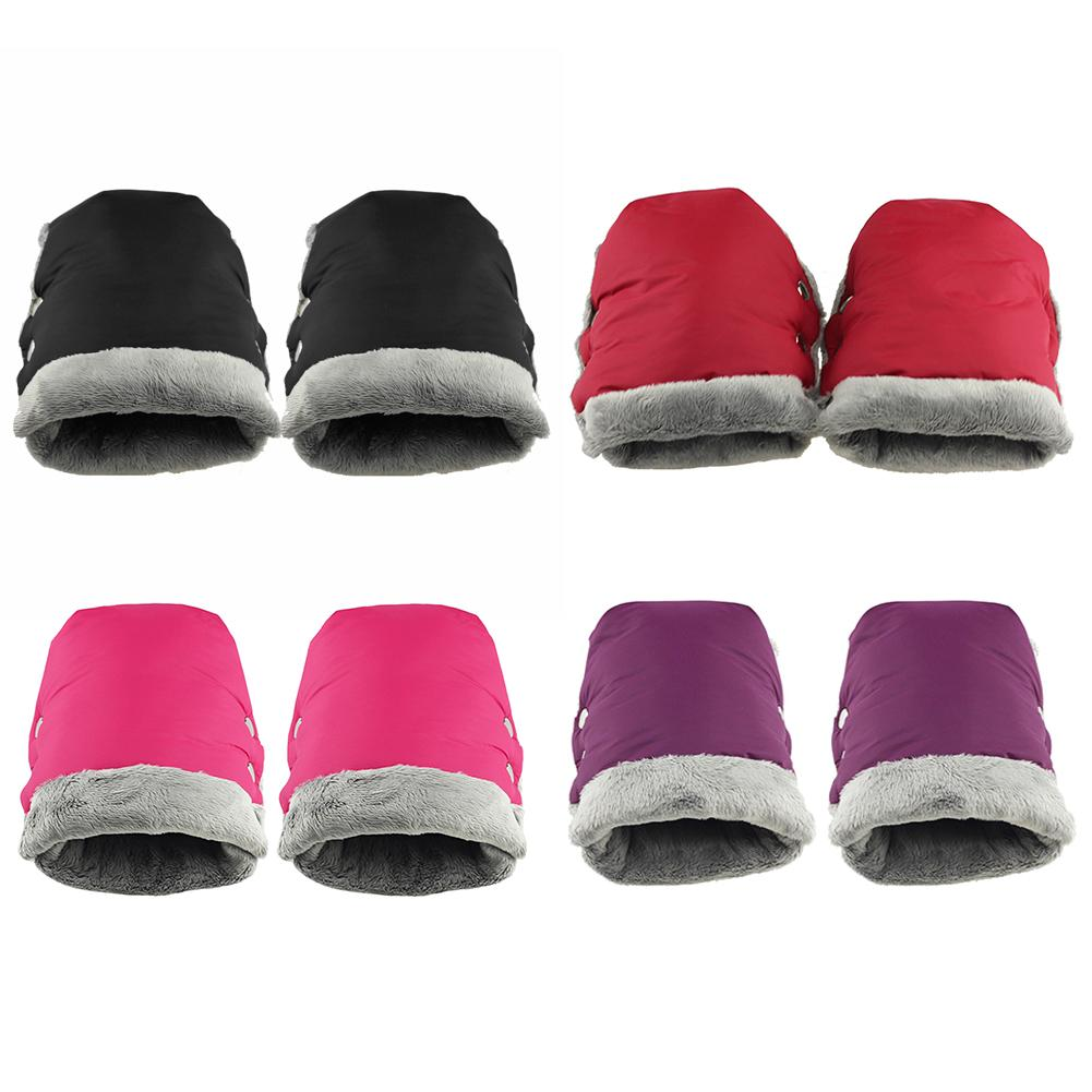 2pcs Outdoor Glove Hot Selling Simple Portable Breathable Soft Surface Pushchair Hand Muff Pram Accessories Mitten Baby Buggy