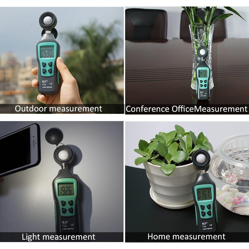 Medidor Digital Lux 200.000, medidor de luz, Mini medidor de luxómetro de mano, iluminómetro, espectrómetro, fotómetro de prueba ambiental