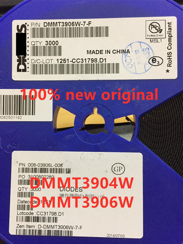 100 piezas DMMT3904W-7-F DMMT3906W-7-F DMMT3904W DMMT3906W 100% nuevo original