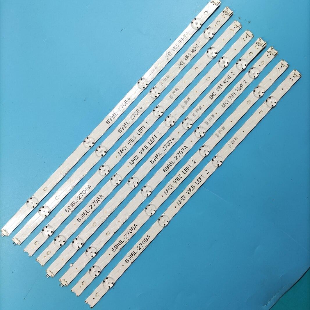 LED شريط إضاءة خلفي ل LG 49UH6500 49LH570V 49LH5100 49LJ510M 49LH570 49LH590V 49UH603V 49UH620V 49LW340C 49LW340H 49LJ58300W