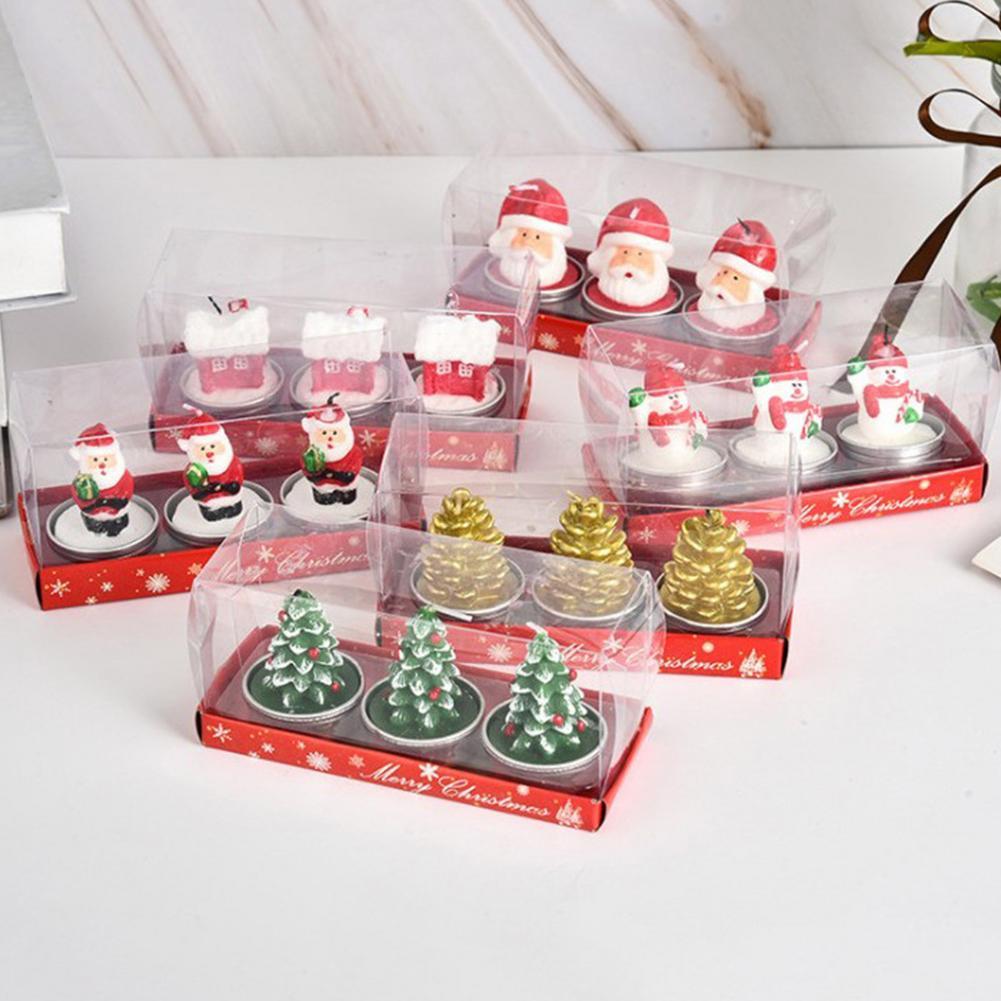 Velas navideñas para nieve, conos de pino, Velas de luz de té...