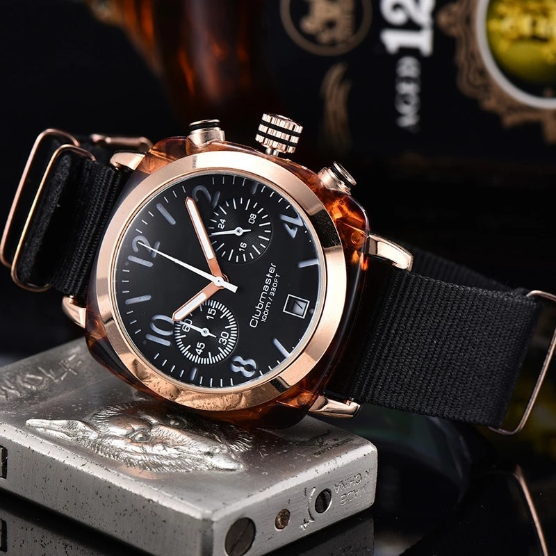 Multi-Function Unisex Watch Simple Casual Dress Six-Pin Watches Sports Calendar Canvas Strap Wristwa