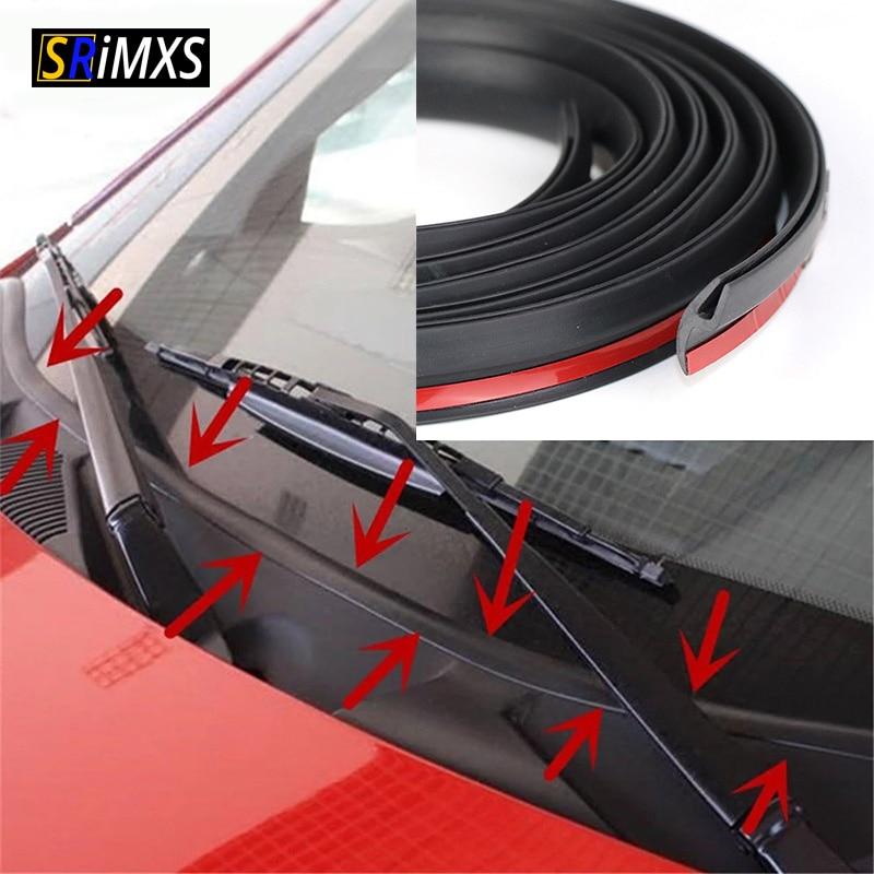 Резиновое уплотнение ветрового стекла самоклеящаяся Пылезащитная уплотнительная лента для лобового стекла приборной панели автомобиля