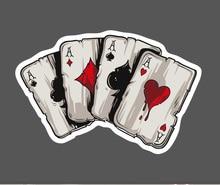 1Pcs Poker Waterproof Sticker Single Sale Cool Laptop Luggage Fridge Skateboard Graffiti Notebook Stickers Free Shipping