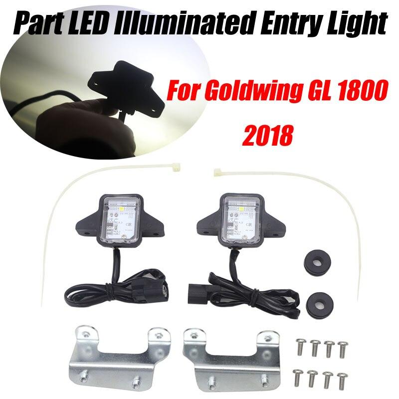 Para Honda Goldwing Gold wing GL1800 GL 1800 2018 motocicleta Tour parte LED Luz de entrada iluminada