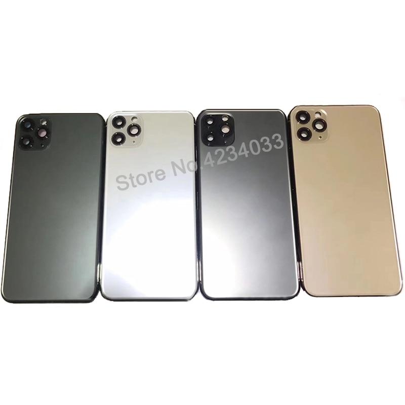 Funda trasera AAA de alta calidad para For iphone11 pro max carcasa máxima cubierta de batería puerta trasera chasis medio marco enlarge