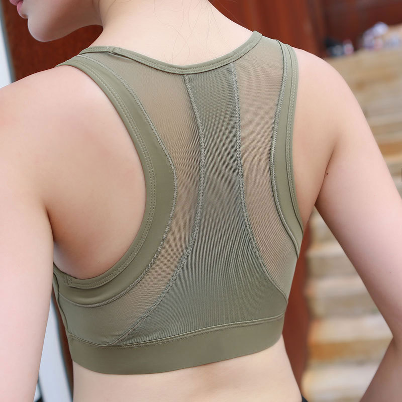 Gathered Yoga Bras Women's Bra Versatile Crz Shockproof Sport Breathable Crop Top Mesh Sports Push Up for Fitness Woman Seamless