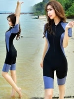 womens sports swimsuit one piece knee length pants conservatively thin plus size