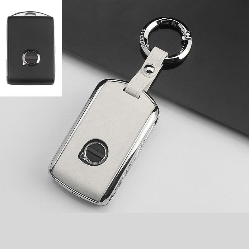 Zinc alloy Car Key Cover Case For Volvo XC40 XC60 S90 XC90 V90 2017 2018 T5 T6 2015 2016 T8 Keychain Alarm Remote Control