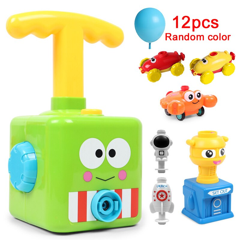 Educational Science Experiment Toy Inertial Power Balloon Car Toy Puzzle Fun Inertial Power Car Balloon Toys for Children Gift