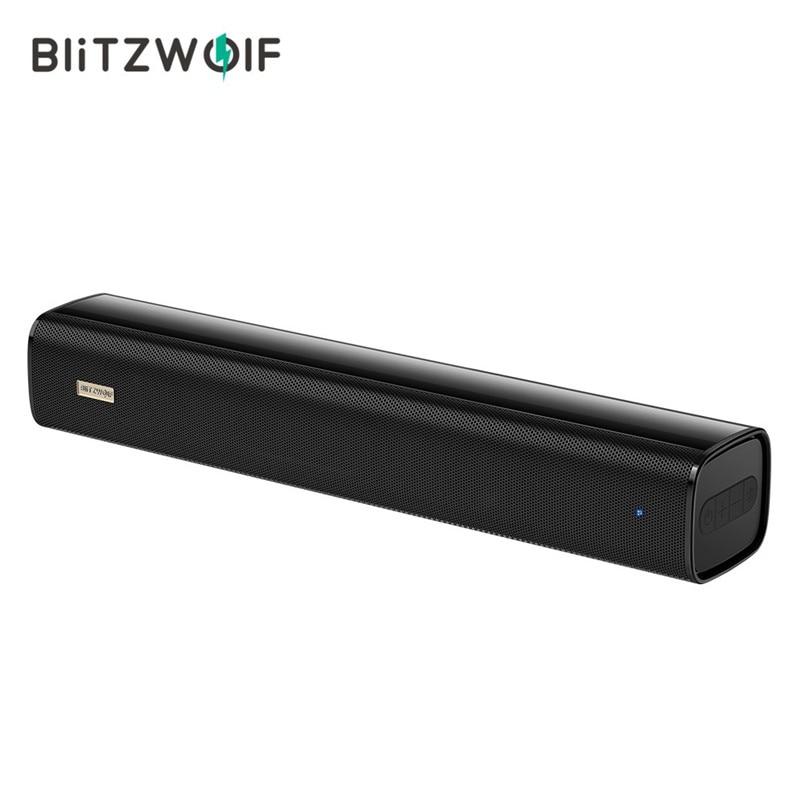 Orador blitzwolf BW-SDB0 pro 10 w 2200 mah mini bluetooth soundbar para desktop computador portátil com som estéreo design exclusivo alto-falantes