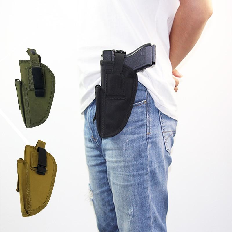 Funda Universal para caza y Glock, funda para mano izquierda y derecha, 17 19, Beretta M9, Sig Hk pistolera Usp, cinturón ajustable con Clip de Metal