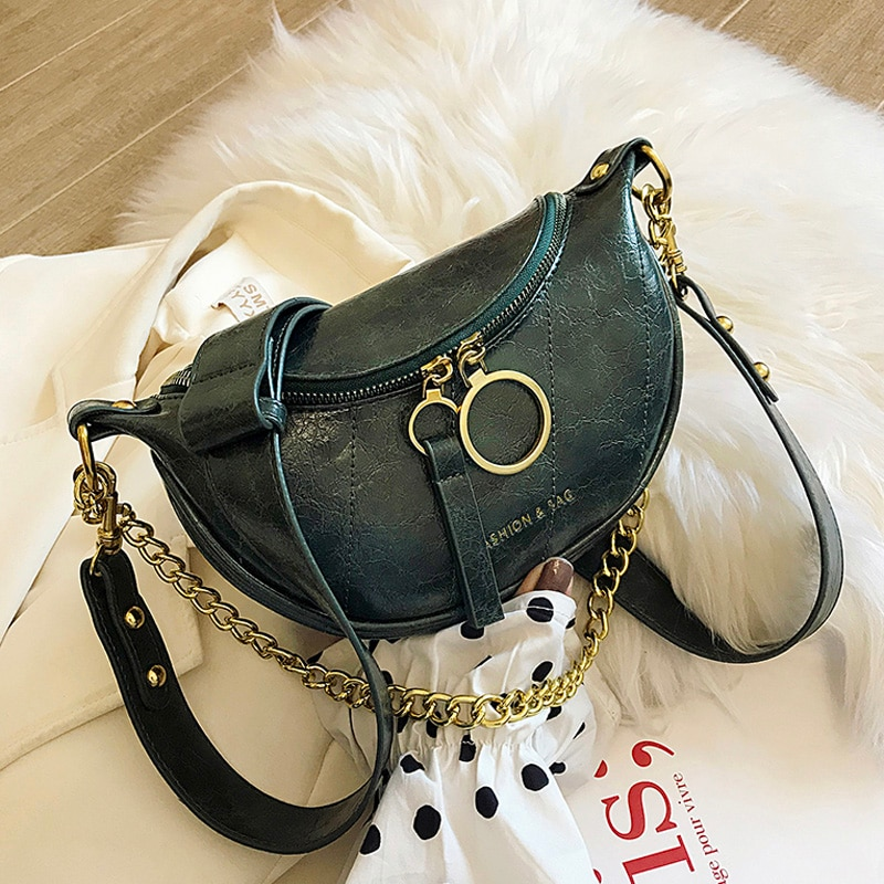 2020 new small CK waist bag tide Korean fashion wild chain shoulder messenger chest bag