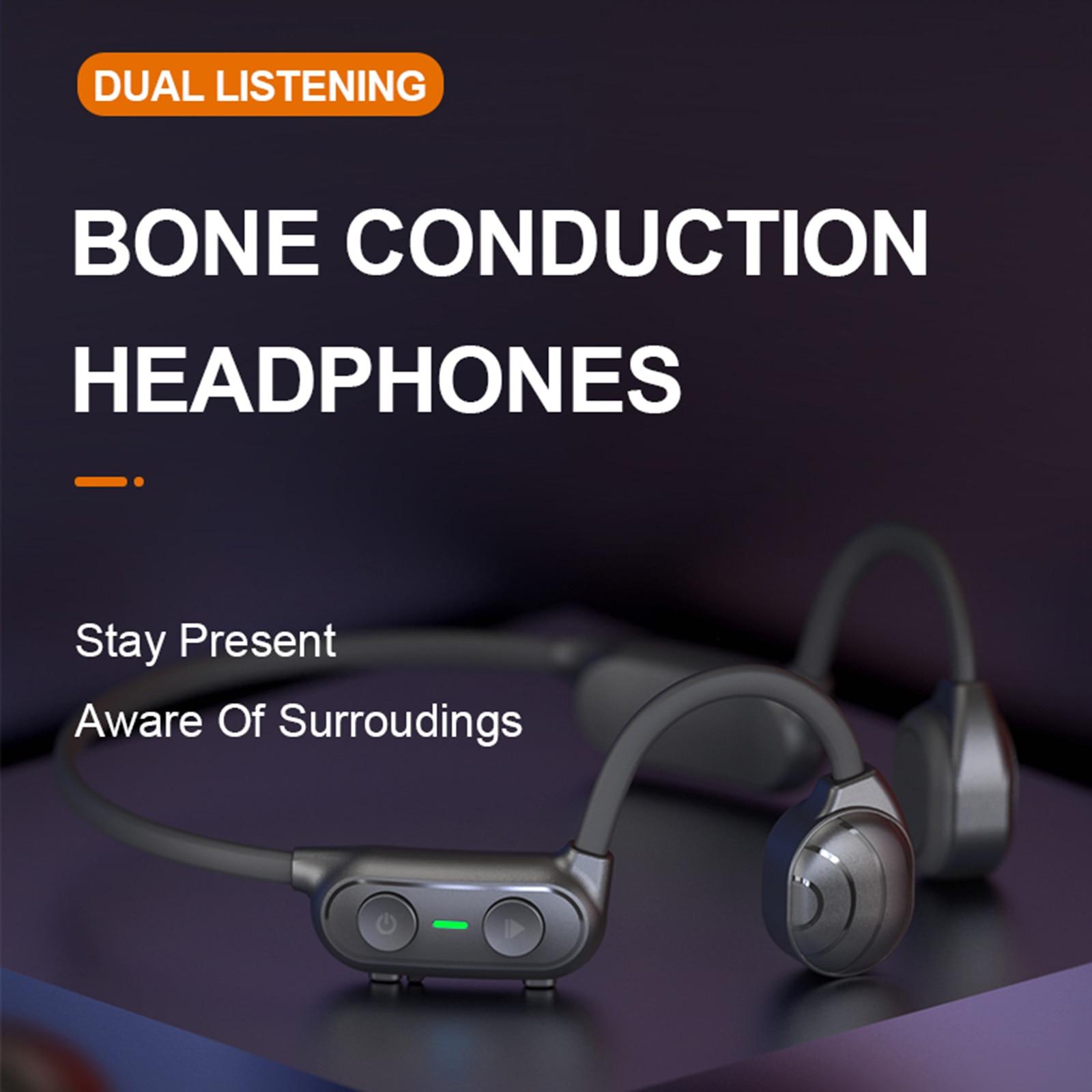 New Bluetooth Wireless Headphones Waterproof Open Ear Bone Conduction Headphones Hifi Stereo Sport Hands-free Headset with mic enlarge