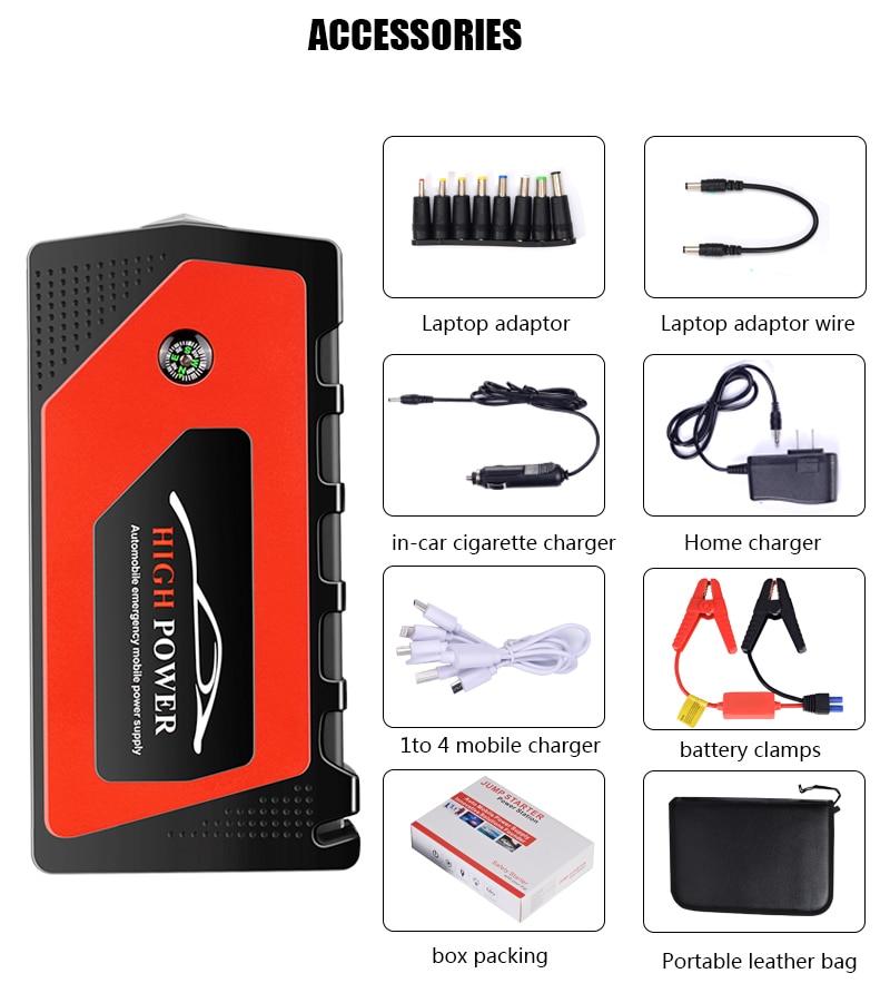 US/EU/AU/69800mAh 12V arrancador de batería de coche portátil banco de energía USB batería de refuerzo para 600A carga para teléfonos inteligentes