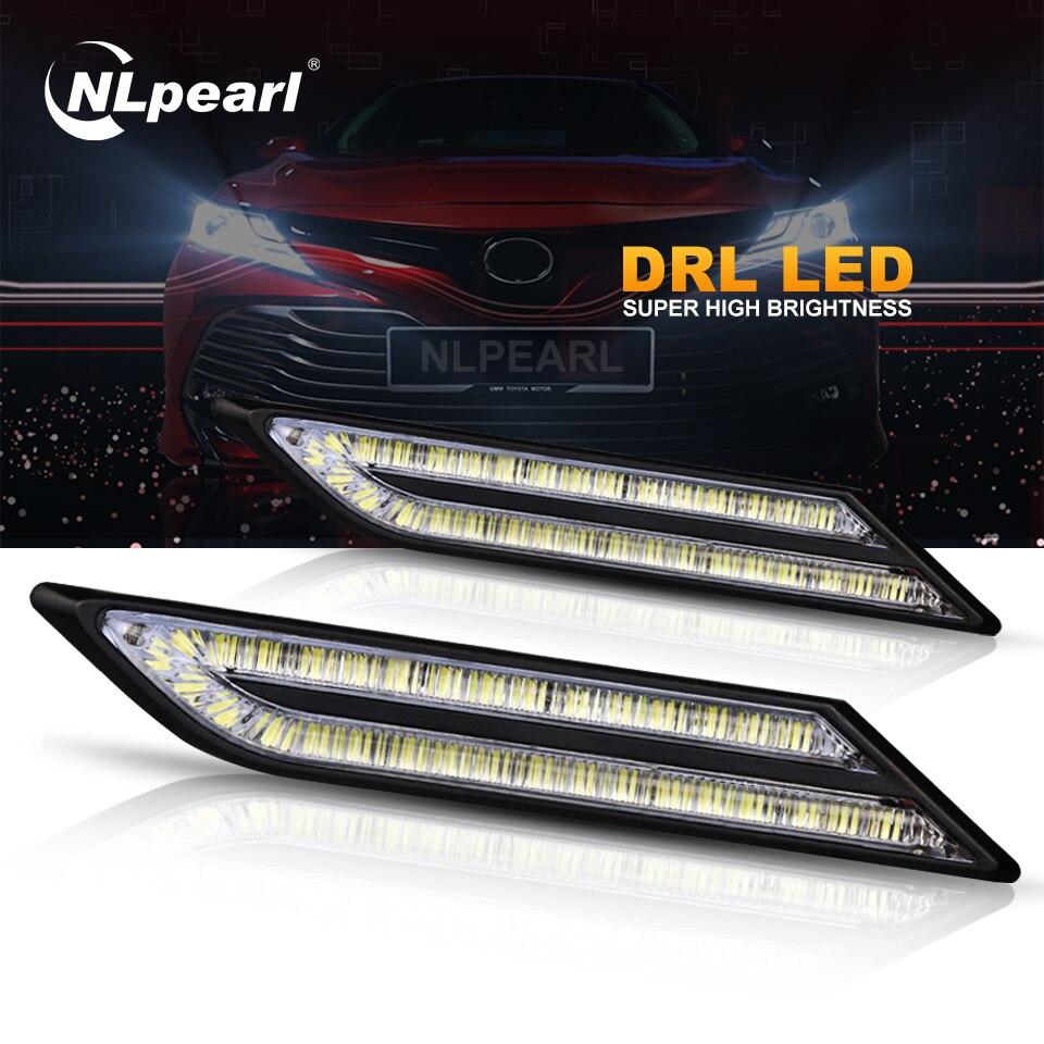 Nlpearl 2x33 SMD Габаритные огни для автомобиля светодиодный Водонепроницаемый супер яркий светодиодный DRL модуль автомобильного освещения стайлинга автомобилей 12V