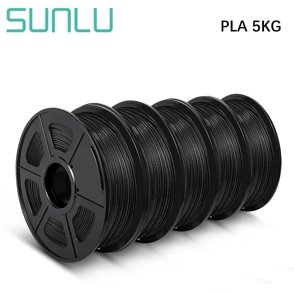 SUNLU 3D طابعة خيوط PLA 1 كجم 5/10 رولز 1.75 مللي متر 2.2 رطل قوة عالية مواد الطباعة 5 كجم 10 كجم ل FDM 3D طابعة بالجملة
