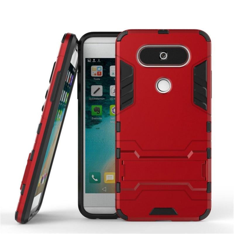 """Для LG Q8 H970 5,2 """"ударопрочный чехол с подставкой для LG Q6 M700A M700N M700 3 ГБ 32 ГБ 5,5"""" комбинированный защитный чехол с Железным человеком"""